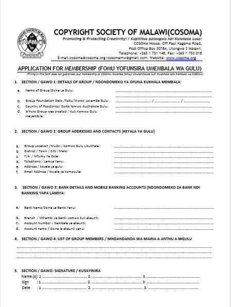 Group Membership Form